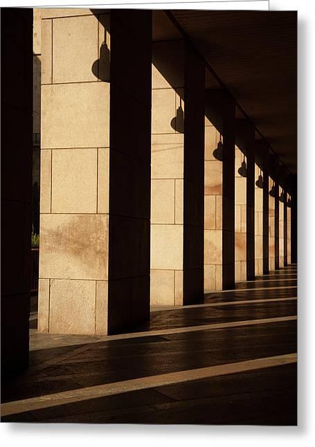 Milan Columns Greeting Card by Art Ferrier