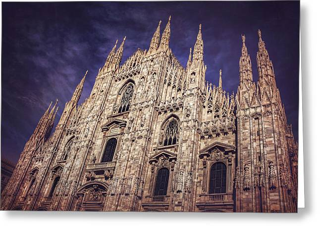 Milan Duomo Greeting Card by Carol Japp