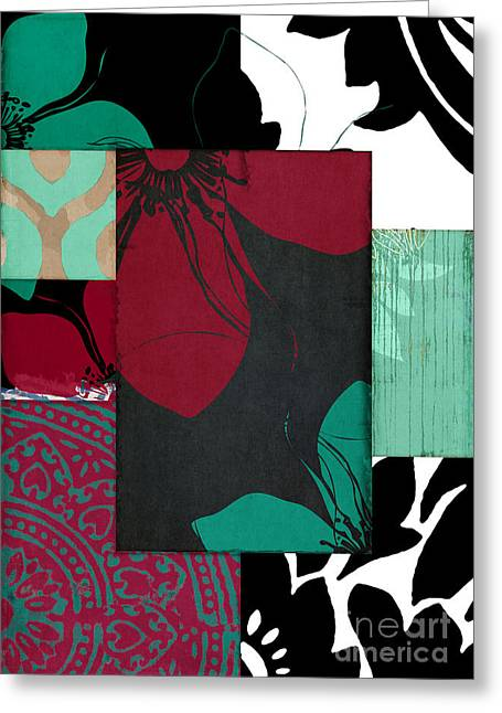 Milan Elegant Pattern Greeting Card by Mindy Sommers