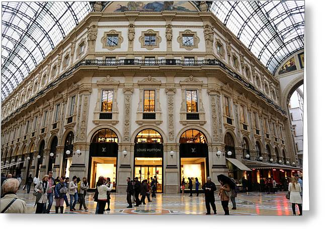 Milan Galleria 3 Greeting Card by Andrew Fare