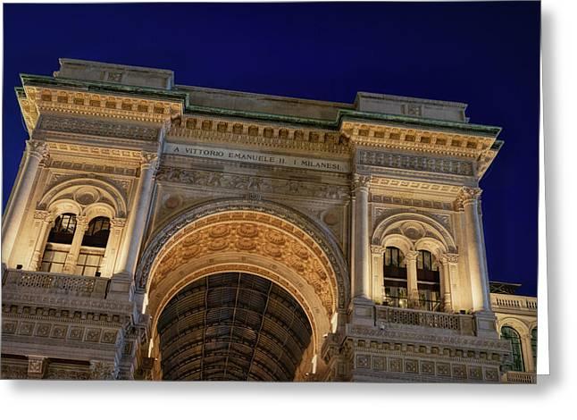 Milan Galleria Night Greeting Card