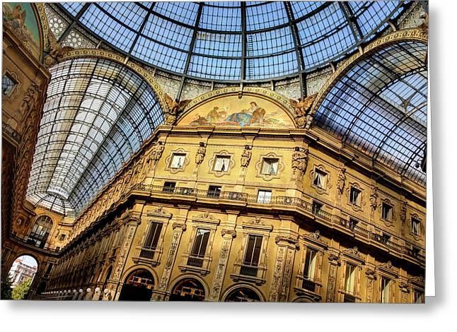 Milan Galleria Vittorio Emanuele II  Greeting Card