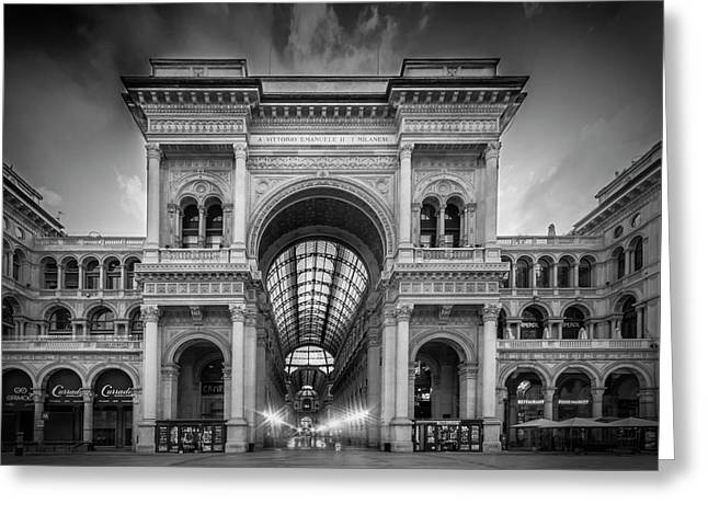 Milan Galleria Vittorio Emanuele II Greeting Card by Melanie Viola