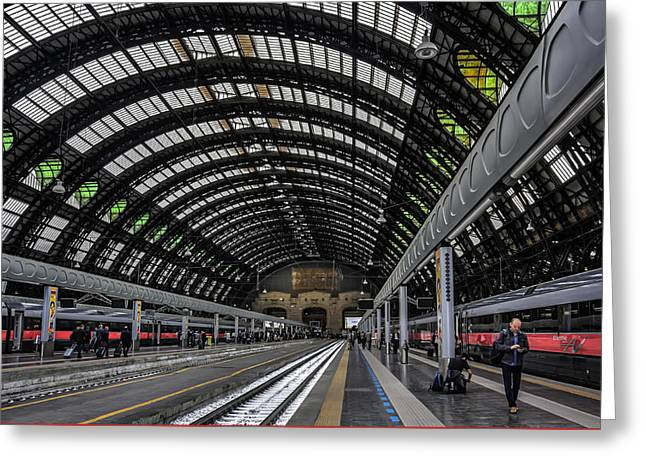 Milano Centrale Greeting Card by Carol Japp