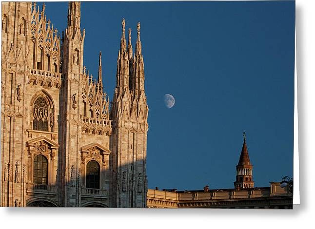 Milano Moonrise Greeting Card by Art Ferrier
