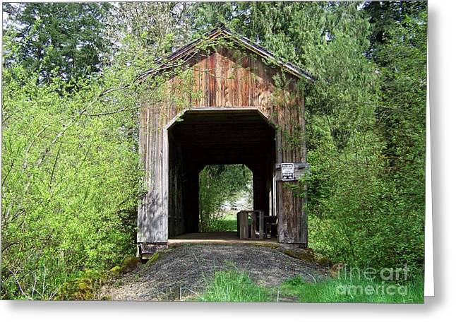 Milbrandt Bridge Portal Greeting Card
