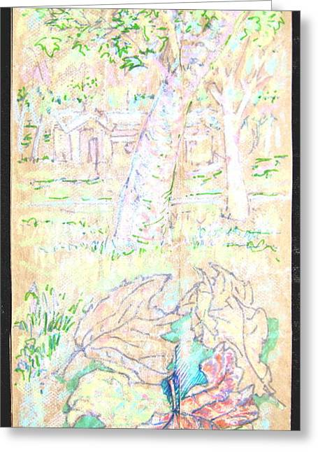 Mile Square Park Greeting Card by Radical Reconstruction Fine Art Featuring Nancy Wood