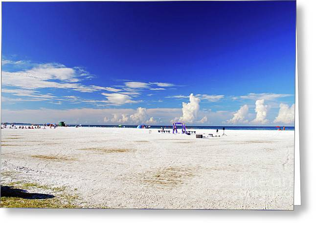 Greeting Card featuring the photograph Miles And Miles Of White Sand by Gary Wonning