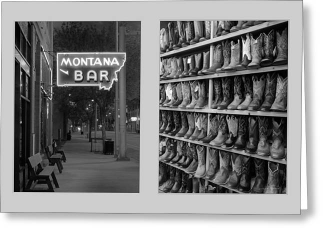 Miles City Diptych Greeting Card