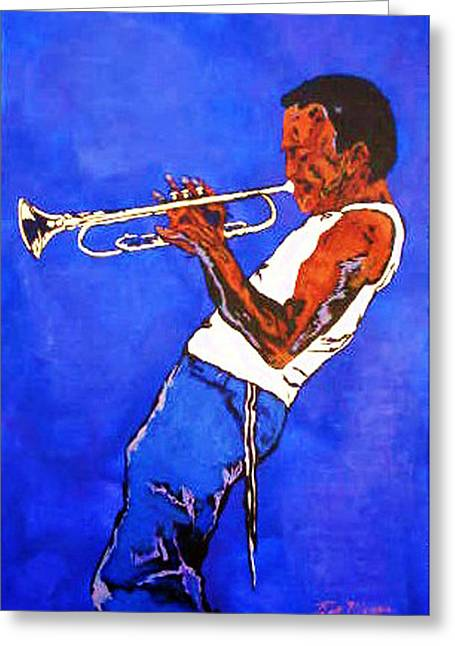 Miles Davis-miles And Miles Away Greeting Card by Bill Manson