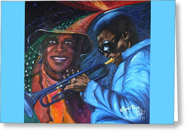 Blaa Kattproduksjoner            Miles Davis - Smiling Greeting Card