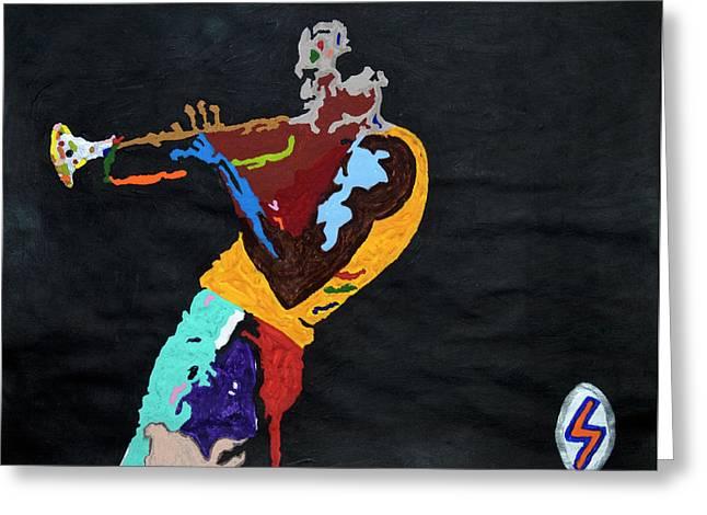 Miles Davis Greeting Card by Stormm Bradshaw