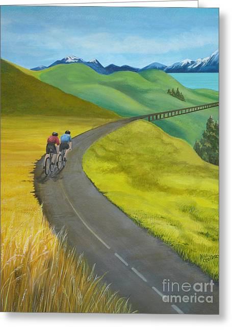 Miles To Go Greeting Card by Kris Crollard