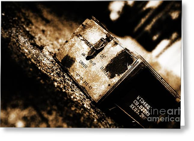 Military Ammunition Box Greeting Card by Jorgo Photography - Wall Art Gallery