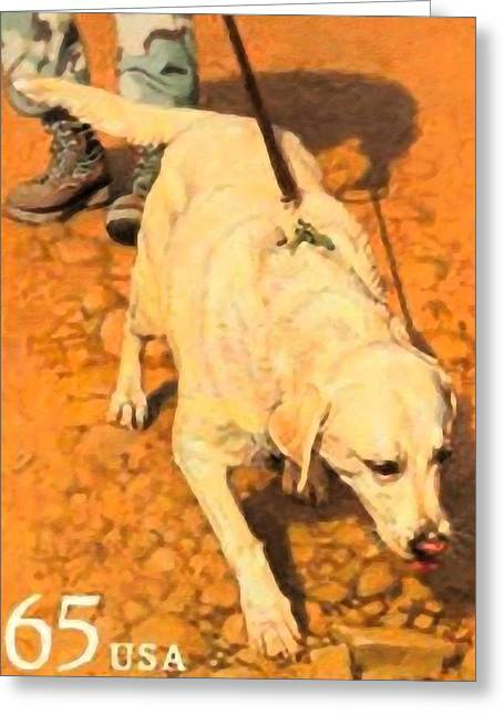 Military Dog Greeting Card by Lanjee Chee