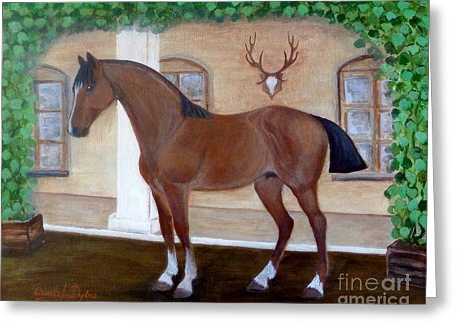 Military Horse Greeting Card