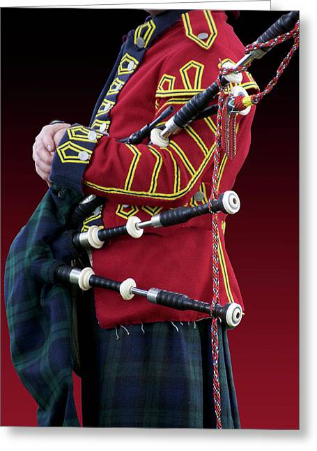Military Musical Instrument Bag Pipes Revolutionary War Greeting Card