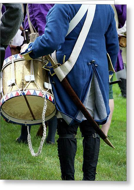 Military Musical Instrument Drum Revolutionary War 03 Greeting Card