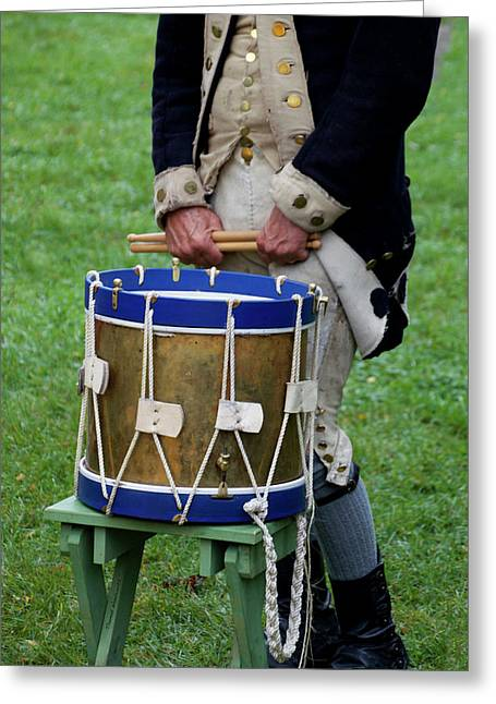 Military Musical Instrument Drum Revolutionary War 04 Greeting Card