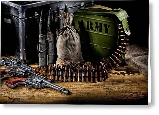 Military Still Life Greeting Card by Andrey Skat