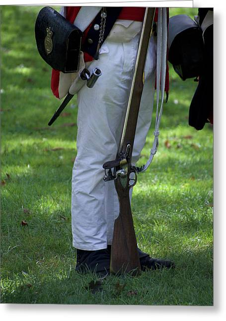 Military Uniform Revolutionary War Sideview 15 Greeting Card by Thomas Woolworth