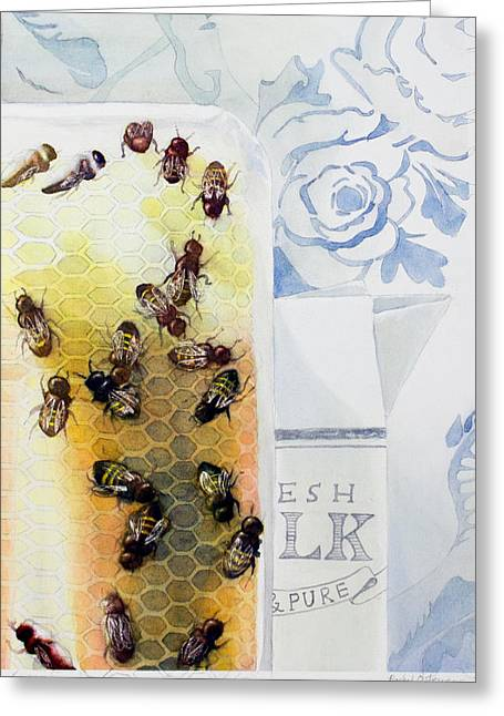Milk And Honey Greeting Card