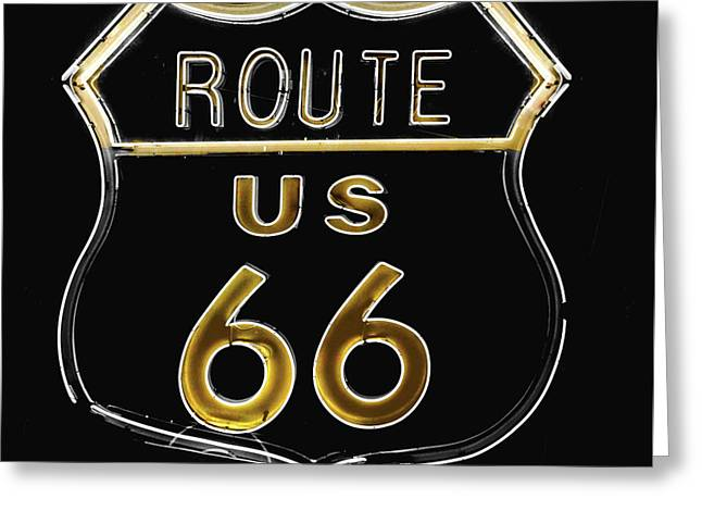 Milk And Honey Route 66 Greeting Card