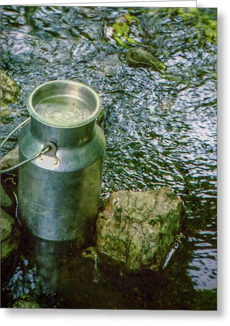 Milk Can - Wales Greeting Card