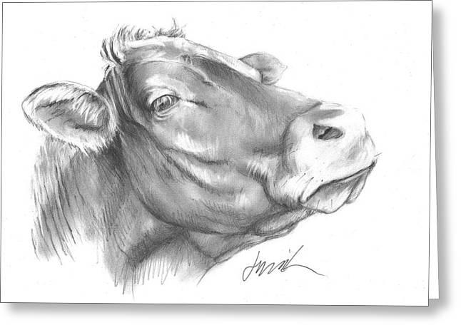 Milk Cow Greeting Card