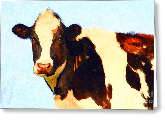 Milk Cow . Photoart Greeting Card