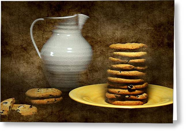 Milk With Cookies Greeting Card