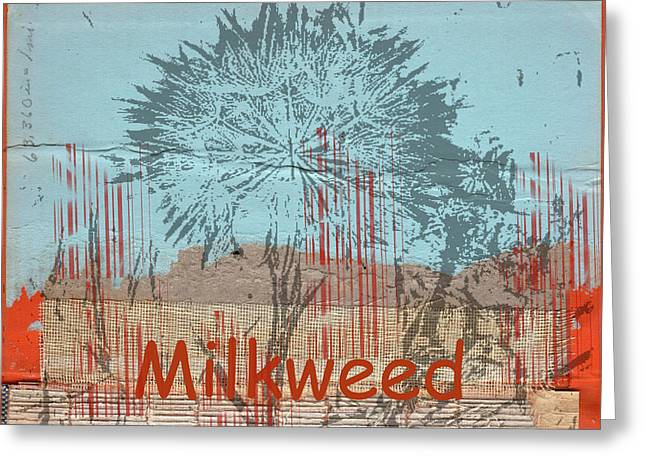 Milkweed Collage Greeting Card