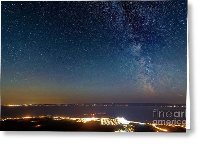Milky Way Above Carleton In Quebec Greeting Card by Colin Woods