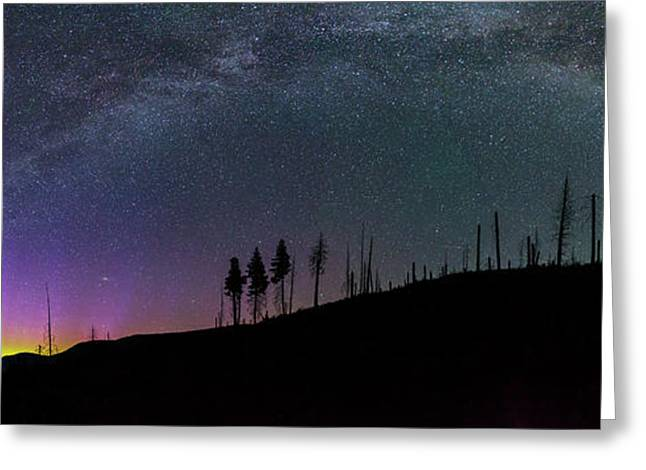 Milky Way And Aurora Borealis Greeting Card