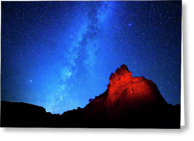 Milky Way And Caprock Greeting Card