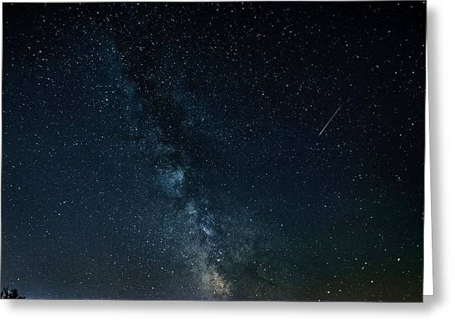 Milky Way And Meteor Greeting Card