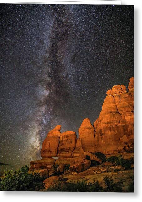 Milky Way And Navajo Rocks Greeting Card