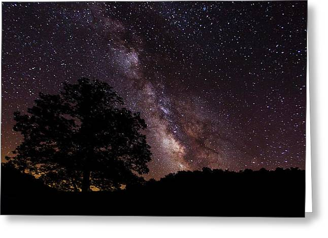 Milky Way And The Tree Greeting Card
