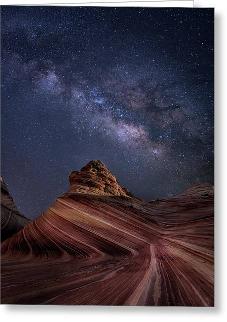 Milky Way And The Wave Greeting Card