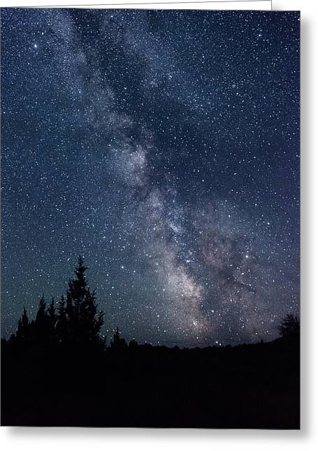 Milky Way At Eastern Oregon Wilderness Greeting Card