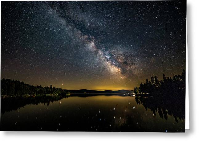 Greeting Card featuring the photograph Milky Way At Hunter Cover by Darryl Hendricks