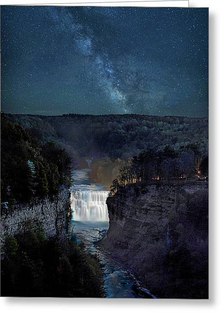 Milky Way At Inspiration Point Greeting Card