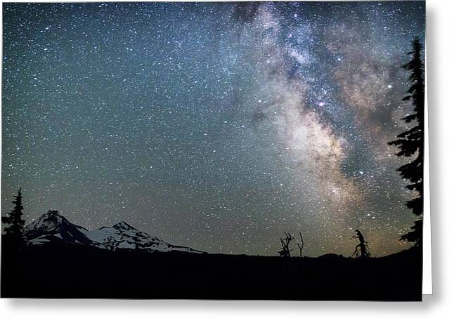 Greeting Card featuring the photograph Milky Way At Mckenzie Pass by Cat Connor