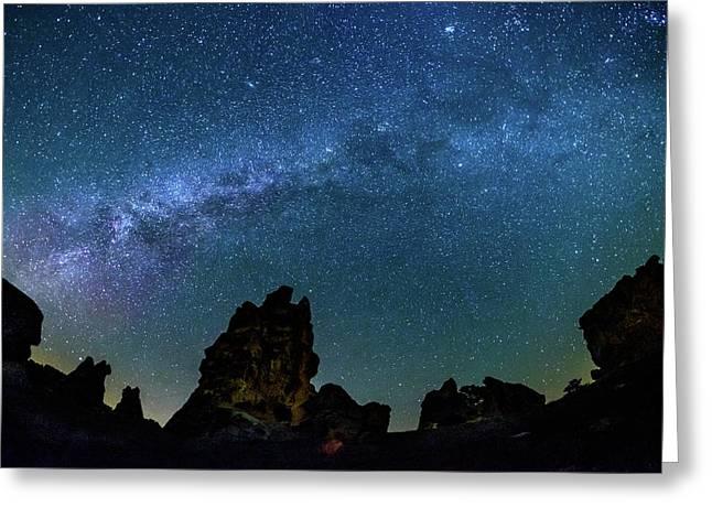 Milky Way At Phyrgia Greeting Card by Okan YILMAZ