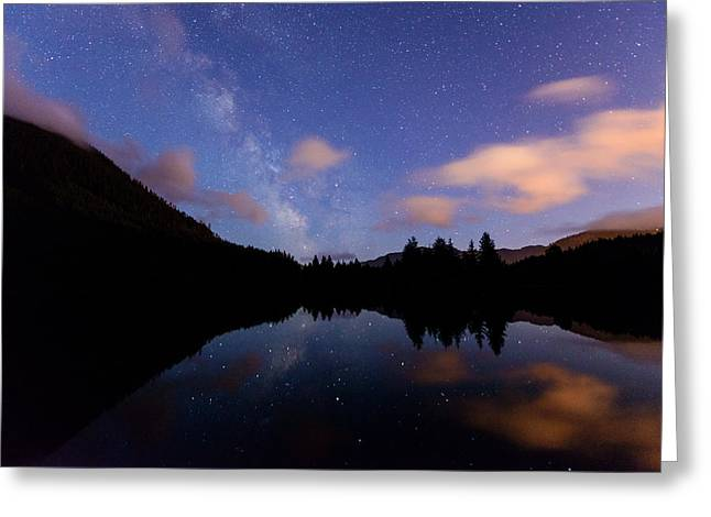 Milky Way At Snoqualmie Pass Greeting Card