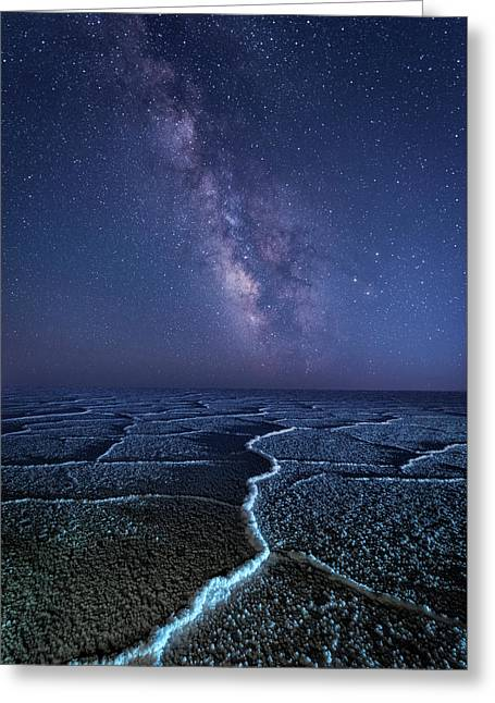 Milky Way At The Salt Flats Greeting Card