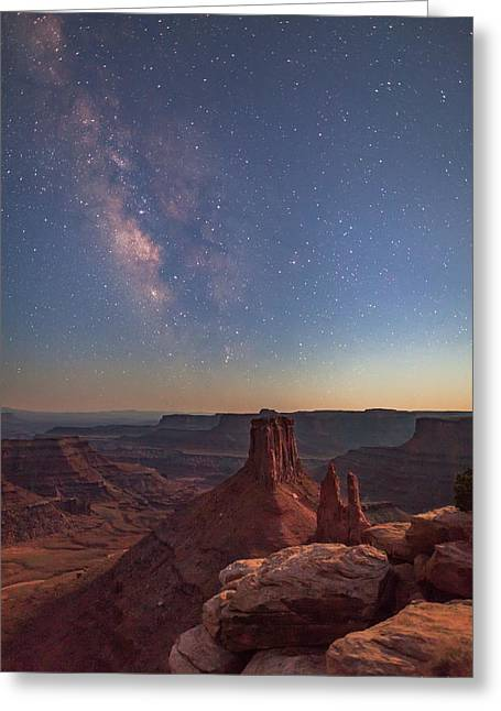 Milky Way At Twilight - Marlboro Point Greeting Card