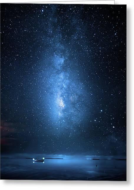 Milky Way Bay Greeting Card by Mark Andrew Thomas