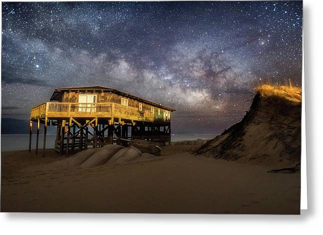 Milky Way Beach House Greeting Card