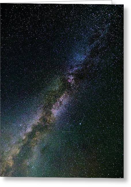 Greeting Card featuring the photograph Milky Way Core by Bryan Carter